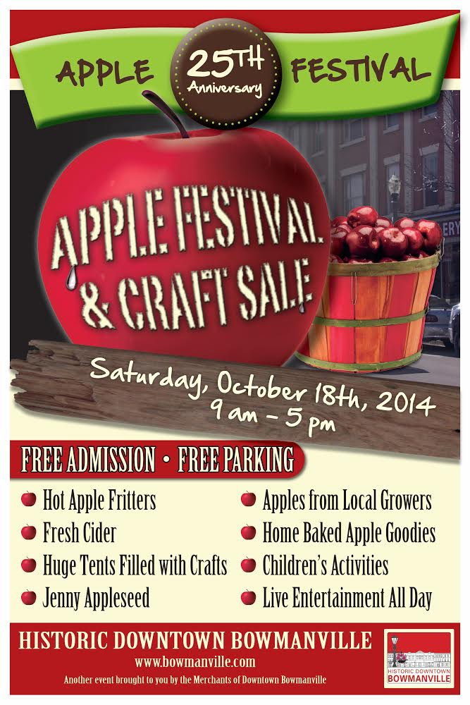 Annual Apple Festival and Craft Show 2014, Saturday October 14, 2014, 9am - 5pm